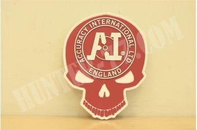 Патч красный Skull PVC Accuracy International