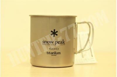 Титановая кружка одностенная 600 мл Snow Peak