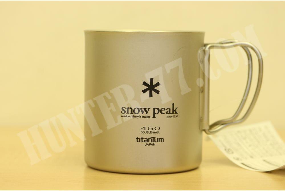 Титановая термокружка 450 мл Snow Peak Titanium Double Wall MG-053