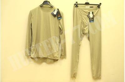 L1  Костюм Тан рубашка-кальсоны Легкое влагоотводящее термобелье Слой 1 L1 ECWCS GEN III LEVEL 1  LIGHT-WEIGHT Undershirt & Drawers  COLD WEATHER