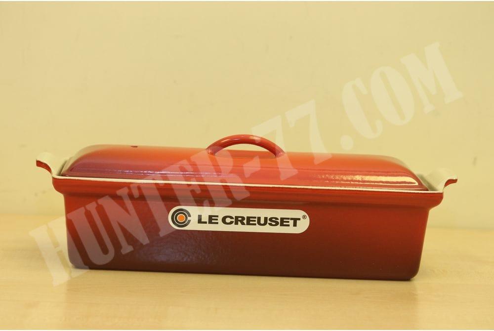 Террин 32см кастрюля для запекания прямоугольная  Le Creuset Enameled Cast-Iron 2 Quart Pate Terrine, Cerise