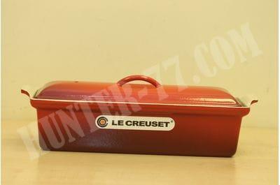 Террин Le Creuset 32см -кастрюля для запекания прямоугольная  (Вишневый)
