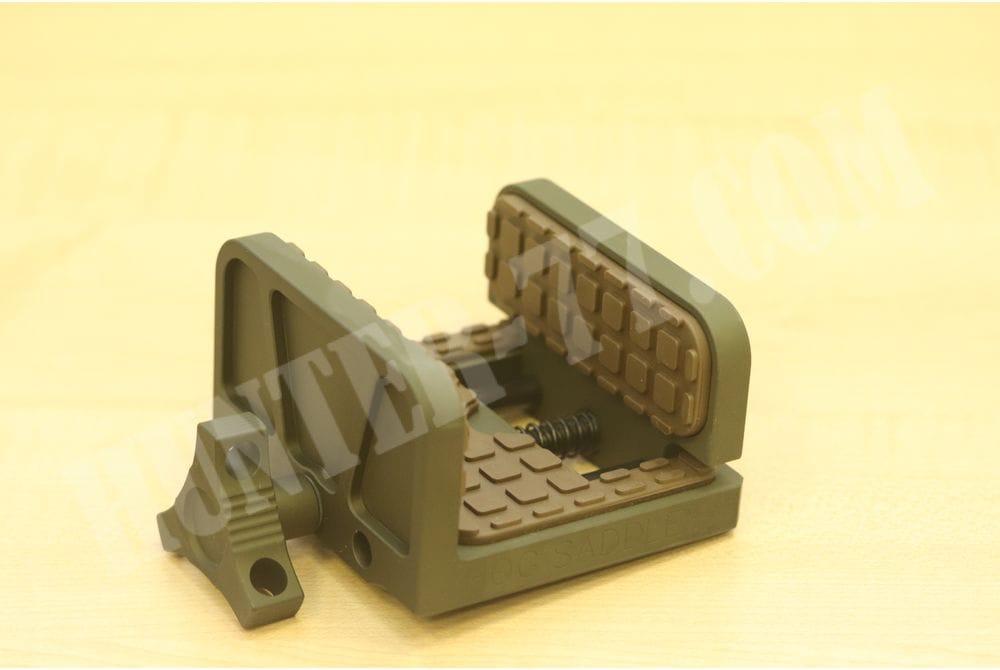 Платформа-зажим  Shadow Tech HOG Saddie MOD7 OD Green with Patriot Brown Pads для винтовки и пулемета на  Манфротто
