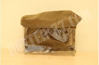 Pouch on Velcro 28x14x7.5 cm transparent coyote