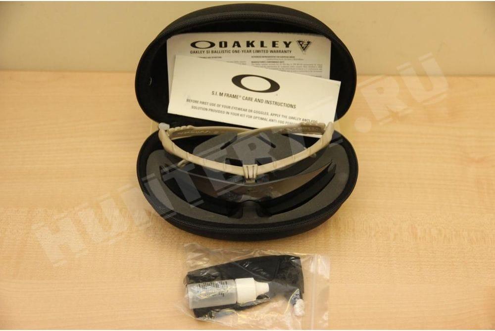 Очки Oakley SI Ballistic Tan 2 линзы M Frame 3.0, Clear + Grey
