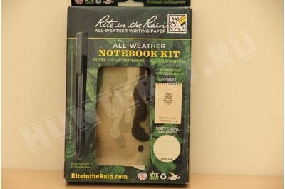 "Rite in the Rain POCKET TOP-SPIRAL KIT С946M-KIT Rite in the Rain All Weather 4"" x 6"" Tactical Multicam Notebook KIT"