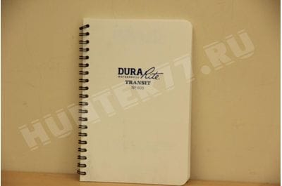 "Rite in the Rain Waterproof (DURARITE) Side-Spiral Notebook, 4 5/8"" x 7"", White Cover, Universal Pattern (No. 603)"