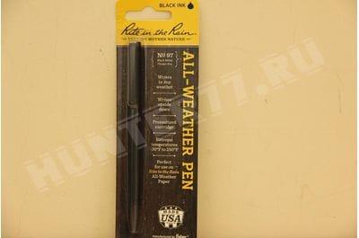Rite in the Rain Weatherproof Black Metal Clicker Pen - Black Ink (No. 97K)