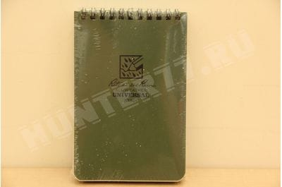 "Rite in the Rain Weatherproof Top-Spiral Notebook, 4"" x 6"", Green Cover, Universal Pattern, 3 Pack (No. 946)"