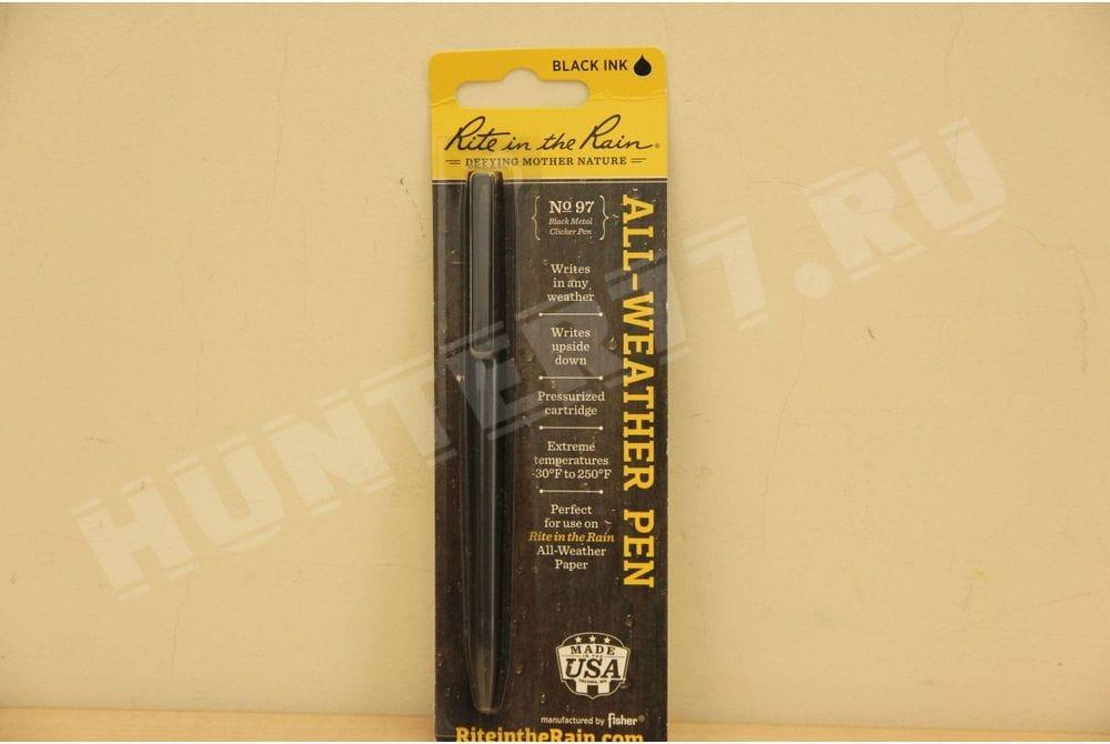 Всепогодная тактическая ручка N 97 металлическая черная Rite in the Rain