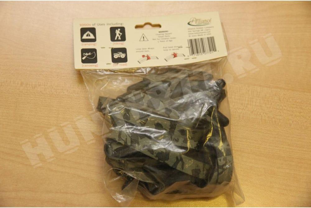 Резиновая стяжка камуфлированная 16 х 1,3 см - 15 штук