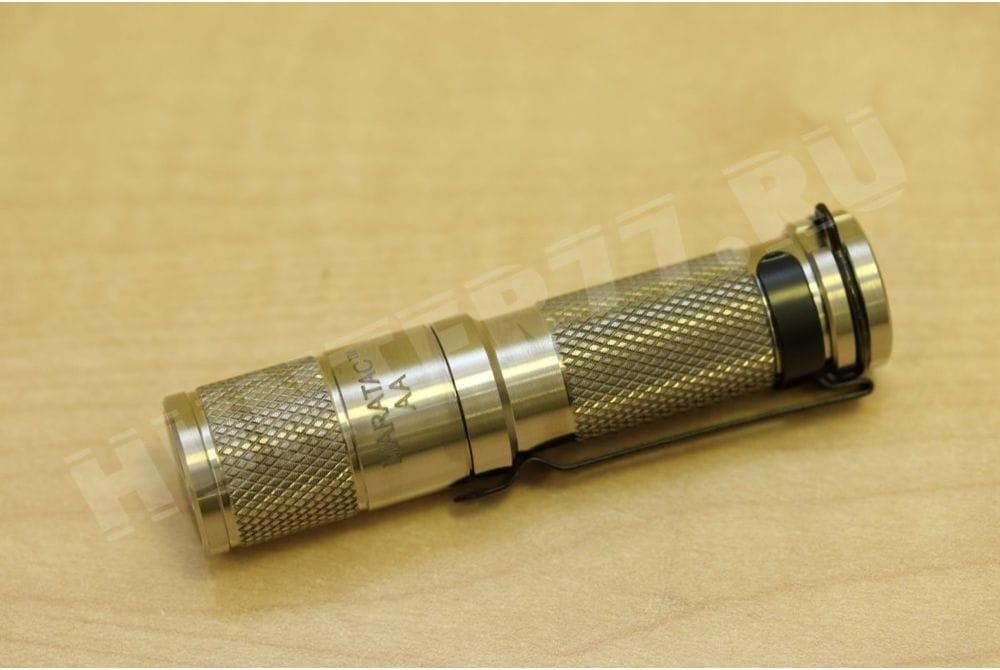 Титановый фонарик 235 / 50 люм AA Titanium Nichia Flashlight by Maratac