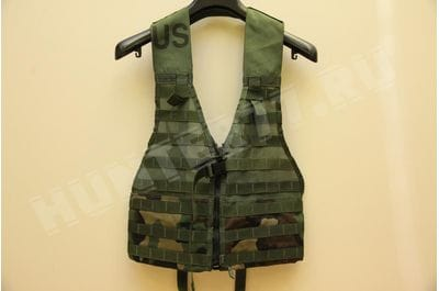 US Military Fighting Load carrier FLC Tactical Vest Woodland Camo MOLLE