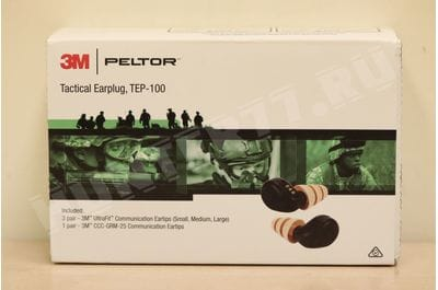 3M PELTOR TEP-100 Tactical Digital Earplug tan