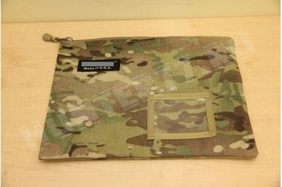 12-1/2-Inch Cordura Ballistic Nylon Zipper Bag Made in USA (Multi Cam)