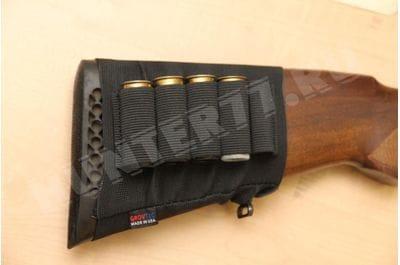 Bandolier on the butt 12 cal ammunition 12 cal
