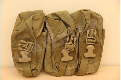 Подсумок тройной с фастексом 30 мест магазинов АК 47/74 Хаки Eagle Industries