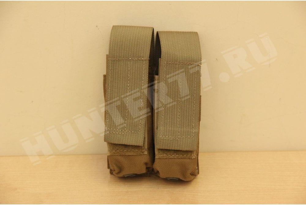 Подсумок 2 маг 9мм Glock Coyote LBT-9013B с вставкой