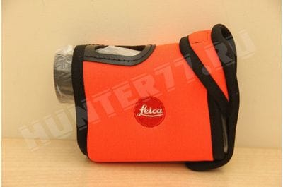 Neoprene cover on Leica CRF orange Leica CRF Neoprene Cover Juicy Orange 42235
