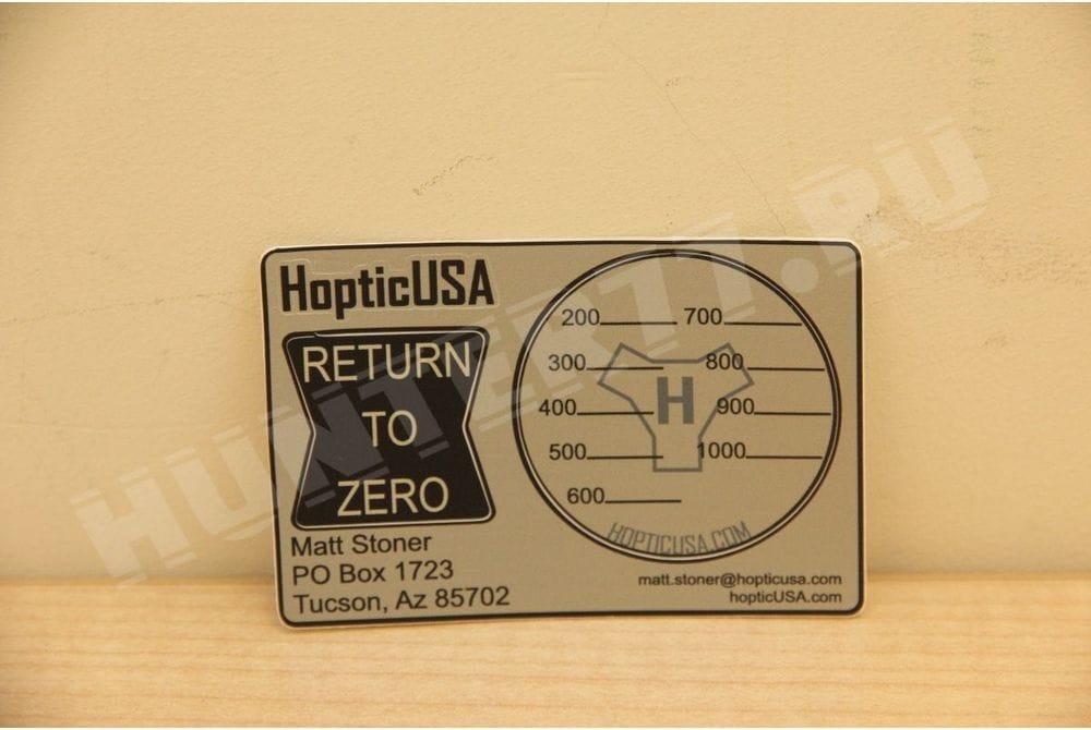 Подсказка поправок в крышку окуляра прицела HopticUSA
