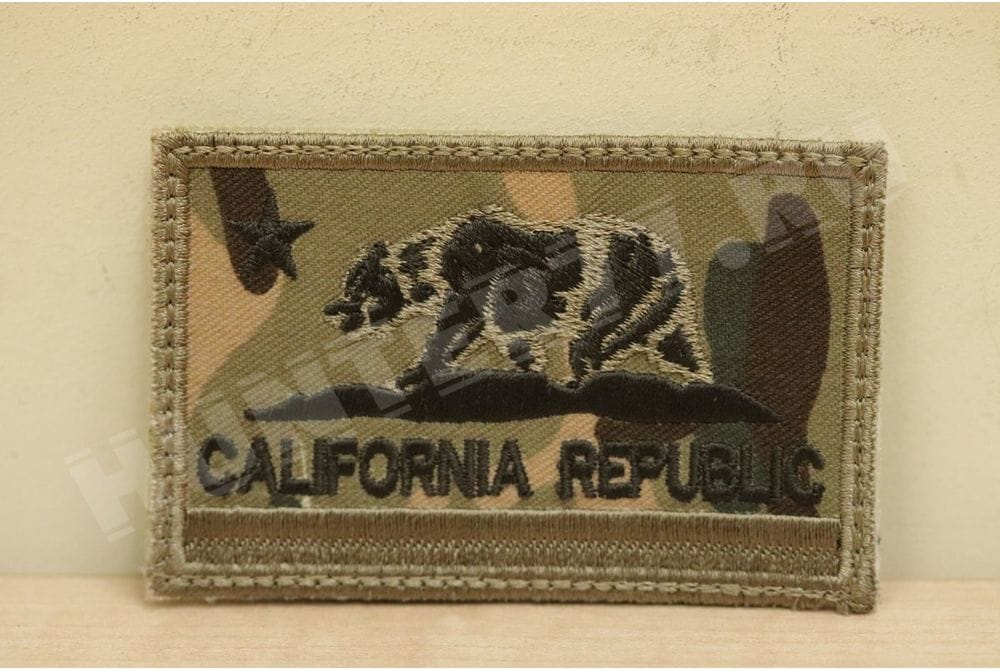 Патч California Flag мультикам вышитый