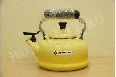 Чайник со свистком Le Creuset 1.6L желтый Soleil