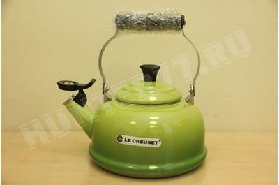 Чайник со свистком Le Creuset 1.6L зеленый Palm