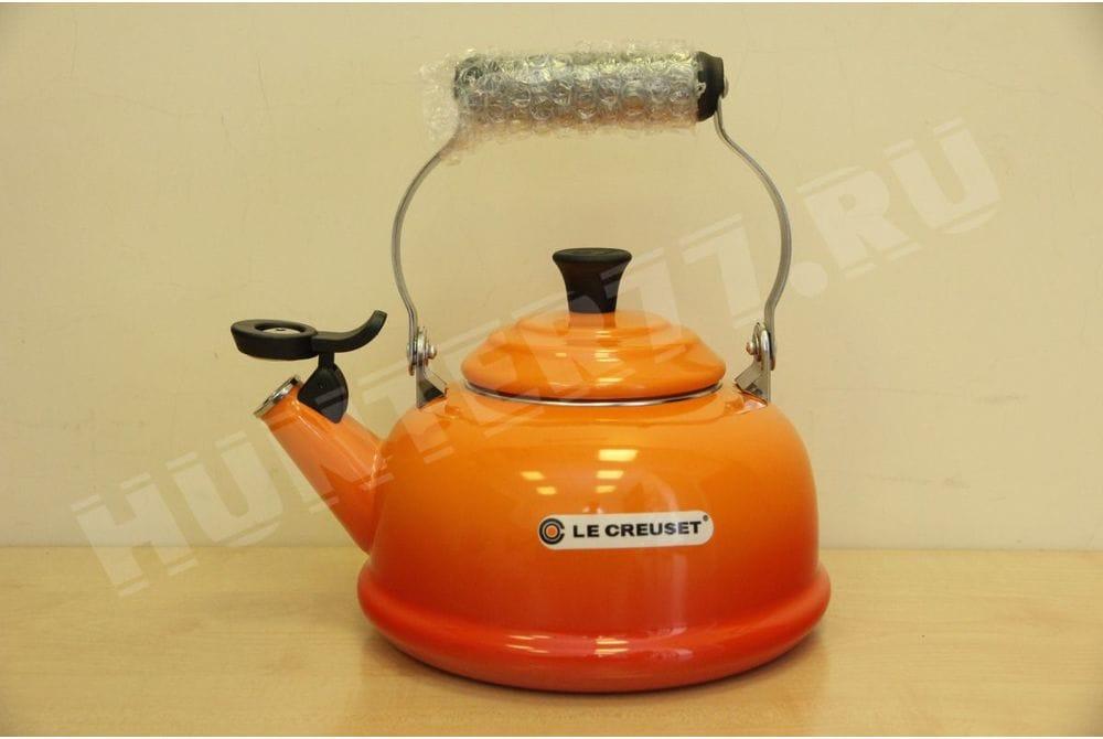 Чайник со свистком Le Creuset 1.6L оранжевый Flame