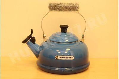 Чайник со свистком Le Creuset 1.6L синий Marseille