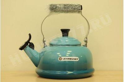 Чайник со свистком Le Creuset 1.6L голубой Caribbean