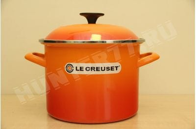 Le Creuset Enamel-on-Steel 6-Quart Covered Stockpot, Flame