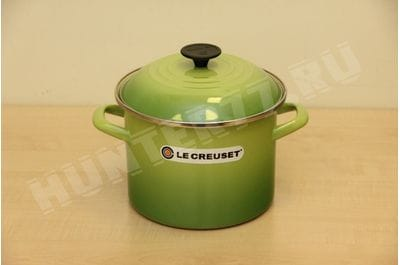 Le Creuset Enamel-on-Steel 6-Quart Covered Stockpot, Palm