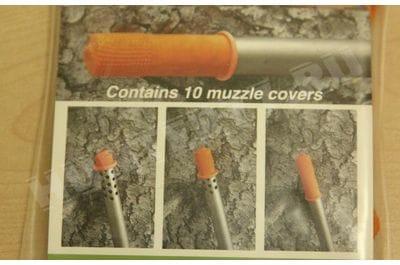 Оружейный condom латексный на ствол оранжевый