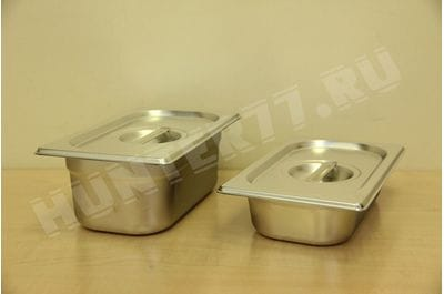 Gastronorm capacity 1/4 steel, height 40/65/100/150/200 mm