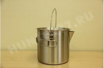 Вертикальный чайник - кастрюля 1.5L / 2.0L стальной походный