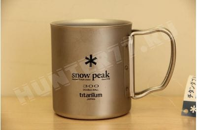 Titan thermomug 300 ml Snow Peak TI-DOUBLE 300 MUG FH MG-052FHR