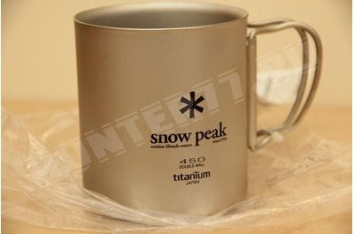 Titan thermomug 450 ml Snow Peak Titanium Double Wall MG-053
