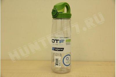 Nalgene 27 Oz Bottle 0.7L On The Fly Water Bottle Clear With Green