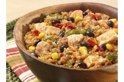 Курица Фахита с рисом, овощами и фасолью
