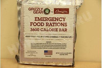 Комплект аварийного питания лимон Grizzly Gear 3600 кал