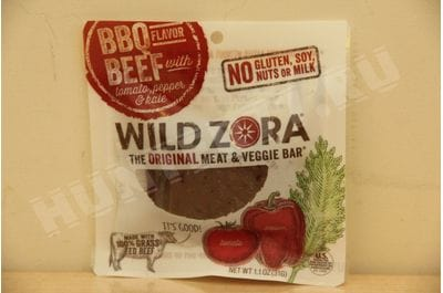 Wild Zora - BBQ Beef - Meat and Veggie Bars