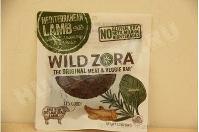 Wild Zora - Mediterranean Lamb - Meat and Veggie Bars