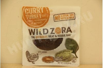 Wild Zora - Curry Turkey - Meat and Veggie Bars