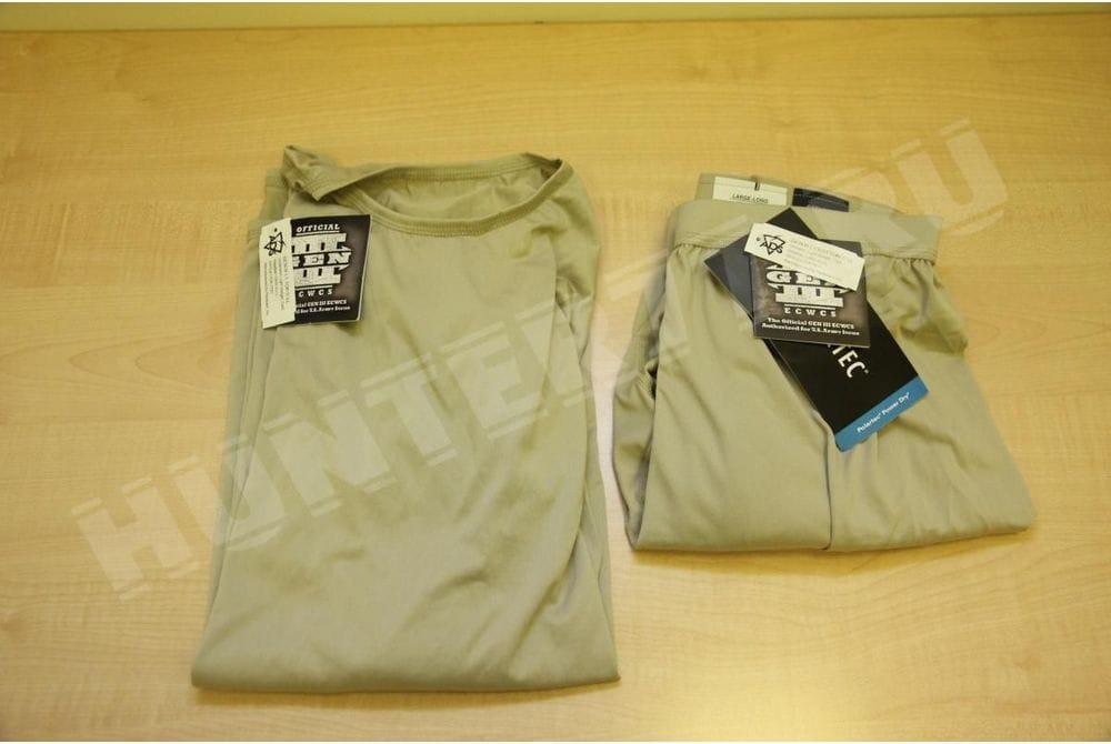 L1  Легкое влагоотоводящее термобелье Tan рубашка-кальсоны Слой 1
