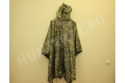 ACU WET WEATHER PONCHO WITH HOOD NSN 8405-01-547-2555
