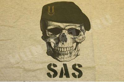 Футболка снайпера SAS British серая