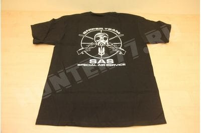Футболка снайпера SAS British черная