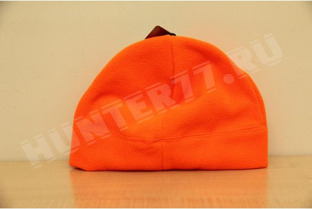 Флисовая шапка 100 оранжевая тонкая