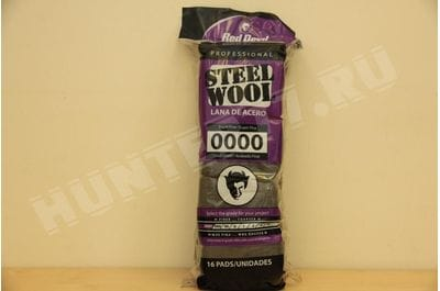 Стальная вата 16 рул. Red Devil Steel Wool 0000 Super Fine