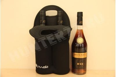 Sunwalla Insulated Wine Carrier – Neoprene Tote Bag Holds 2 Bottles of Wine 0,7L – Secure Carry Handle
